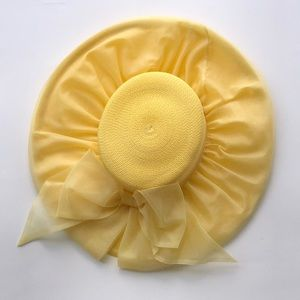 Vintage Yellow Noreen Fashion Hat